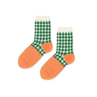 Hansel from Basel Green Plaid Socks / Socks / Comfortable Cotton Socks / Women's Socks