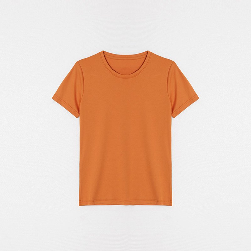 [thin section] 2019 wild summer new solid color light board round neck T-shirt ZLX8667