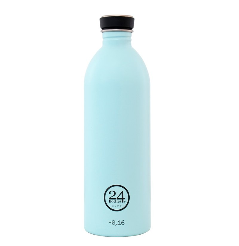Italy 24Bottles [URBAN ultra lightweight feather series] Yuner blue - 1000ml stainless steel bottle