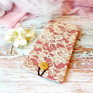 iPhone sleeve, Samsung Galaxy S8, Galaxy Note 8 pouch cover 自家製手提電話包, 手機布袋,布套 (可量身訂製) - Lace series (P-241)