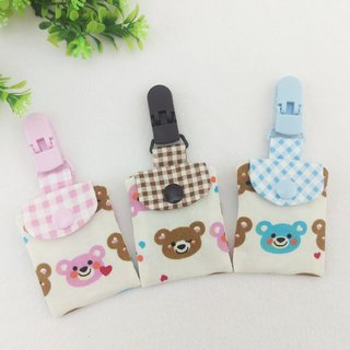 Smile love bear - 3 colors optional. Ping Fu bag (can increase 40 embroidered name)