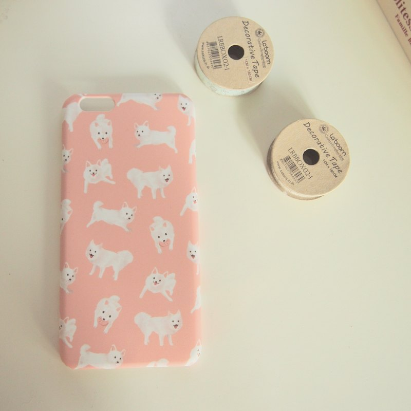 Japanese Spitz iPhone 6 Plus Cover in Pink