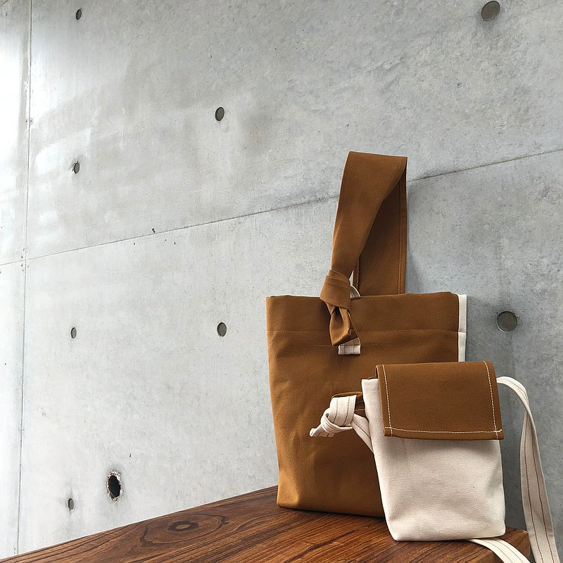 Japanese canvas bag combination