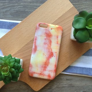Light yellow and red watercolors. Matte Case (iPhone, HTC, Samsung, Sony)