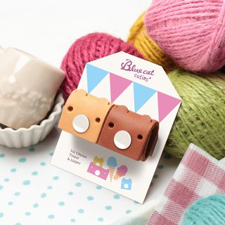 Chocolate with Pudding Ice Cream Tinny Piglet Leather Hand Hub (two entries)