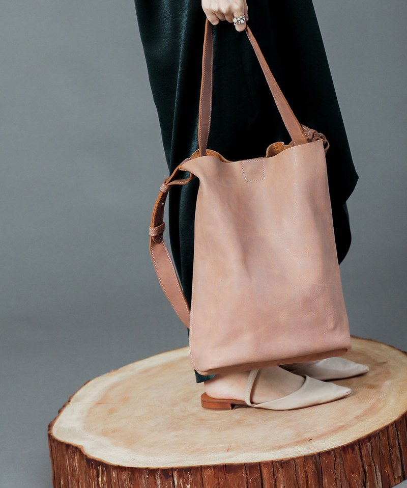 Simple City Leather Tote 2 Pack - Dry Wild Rose