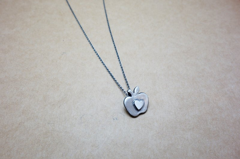 Little Apple Necklace in Sterling Silver