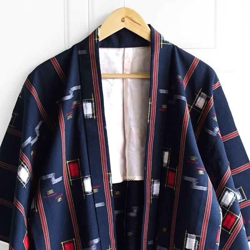 │Slowly│ Japanese antiques - light kimono long coat O20│ vintage. Retro.