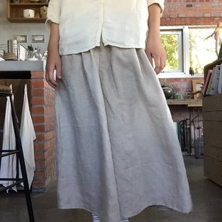 Thin linen rain terrier pants wide skirt pants