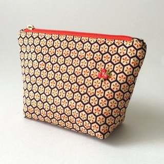 Cosmetic bag with Japanese Traditional Pattern, Kimono