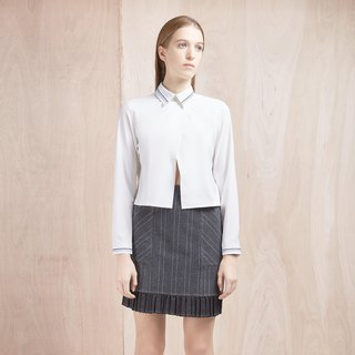<Limited Time Offer to July 13> Grey Striped Lower Skirt - Hong Kong Original Brand Lapeewee