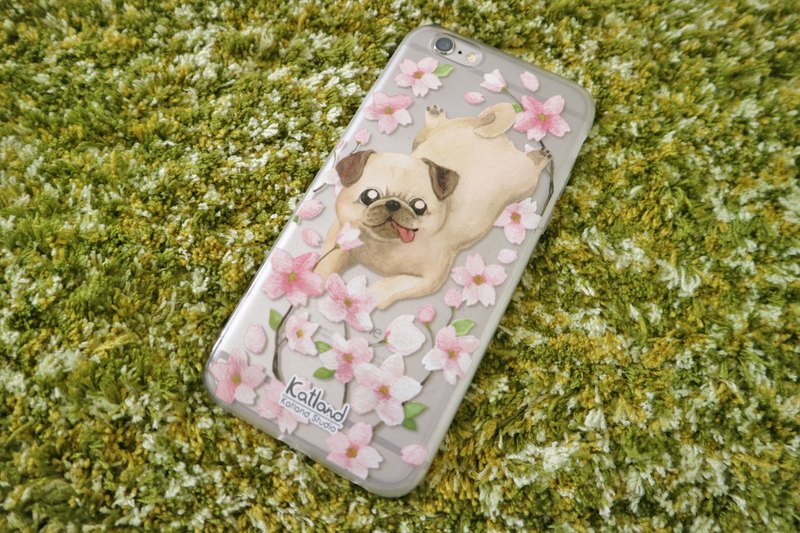 Home design - cherry octopus dog case protective case Phone Case F1D18