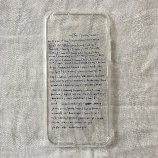 Life list / soft shell / text phone case