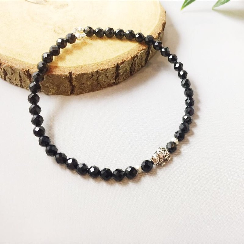 MH sterling silver natural stone custom series _ see dream _ black spinel