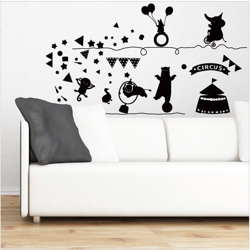 Smart Design Creative wall stickers circus incognito 8 color options