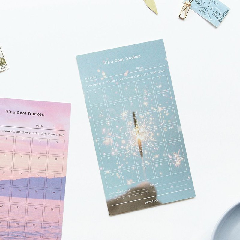 PAPERIAN 30-Day Target Tracking Note Paper (12 photos) -05 Fireworks, PPR38500