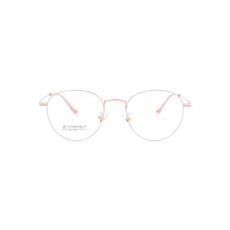 2020-Titanium wire round frame glasses│Layer design-Wenqing light rose gold