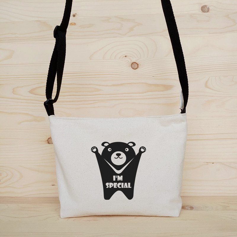 Taiwan Black Bear Cross Body Bag