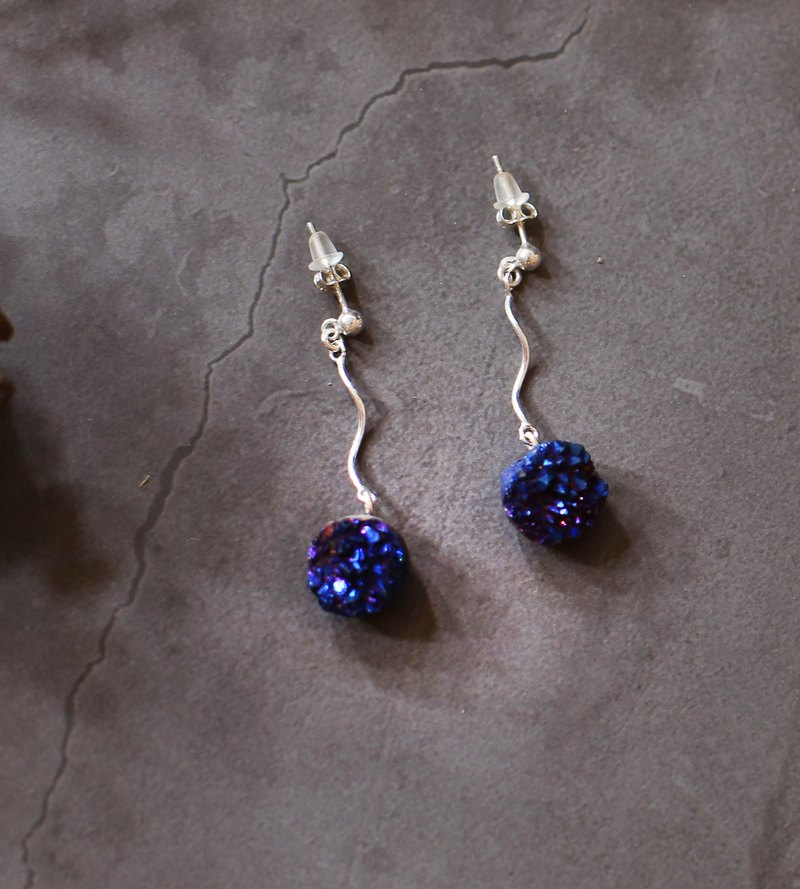 Starry Series - 925 Silver Crystal Earrings Round