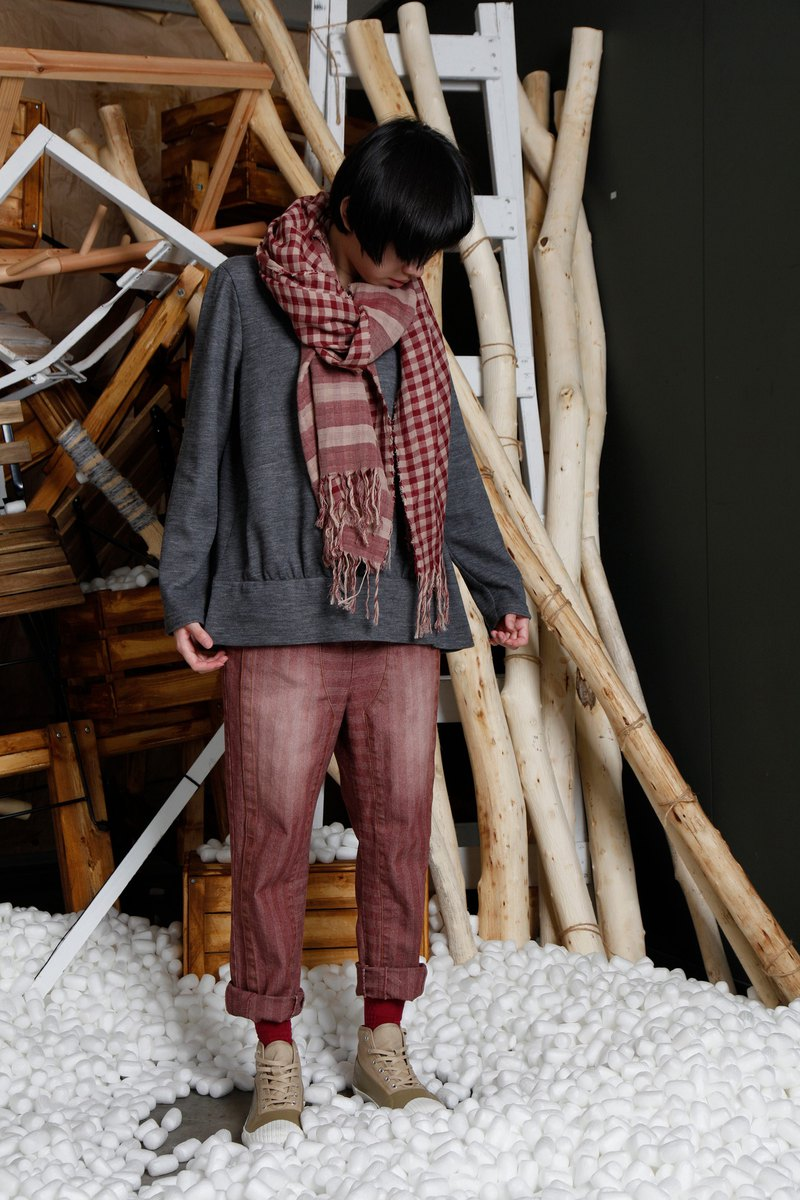 Native _ off-track monorail wool-blend top