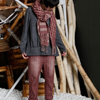 Native _ deviated monorail wool blend top