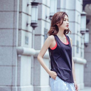 [MACACA] Sports Life 2in1 Vest - ASG1612 Black/Orange