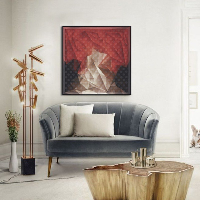 Dissident geometric fantasy exclusive original printed silk painting the living room decorative painting three-dimensional decorative painting