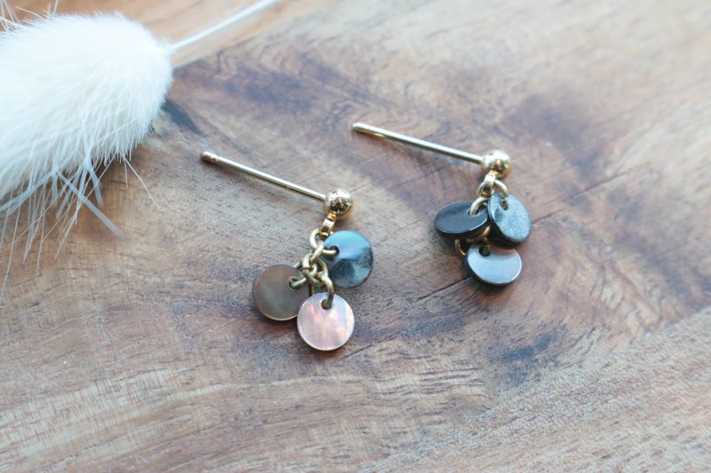 Shell earrings 1147 - long time no see