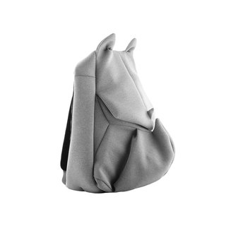 ORIBAGU Origami Bag_Grey Rhinoceros Backpack