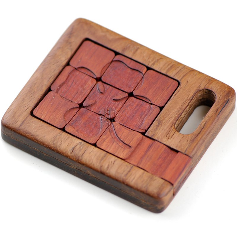 Wooden sliding Puzzle board Wood  box Educational Games