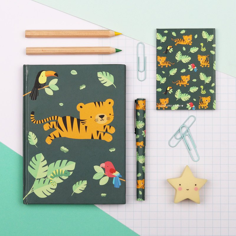 Dutch A Little Lovely Company Jungle Animal Notebook Group