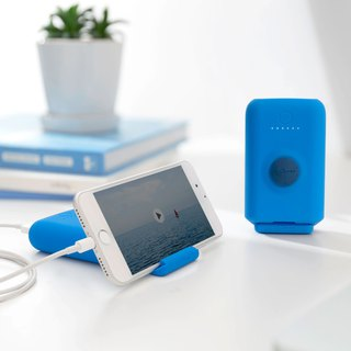 Fast charging stand 3.1A mobile power 10050mAh - simple blue