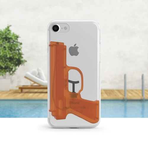 Water Gun - Shatterproof Clear Soft Shell - iPhone X, iPhone 8, iPhone 7, iPhone 7 Plus, iPhone 6, iPhone SE, Samsung