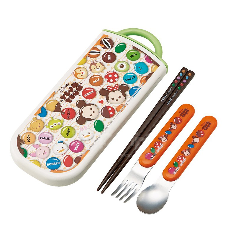 SKATER - Japanese cutlery three-piece set with removable out box (TSUM chocolate)