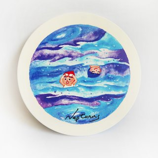 Neptunus | Neptune take a break | Ceramic water coaster coaster