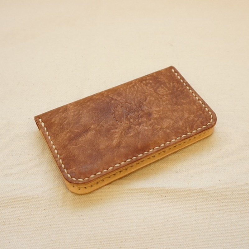 Snowflake series of bilateral business card holder - milk tea brown