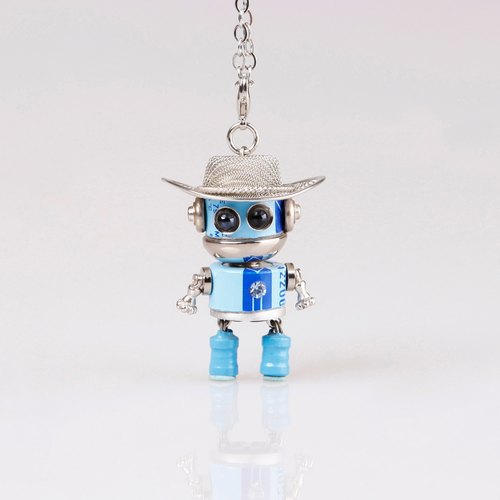 Picobaby / handmade robot necklace / personalized jewelry