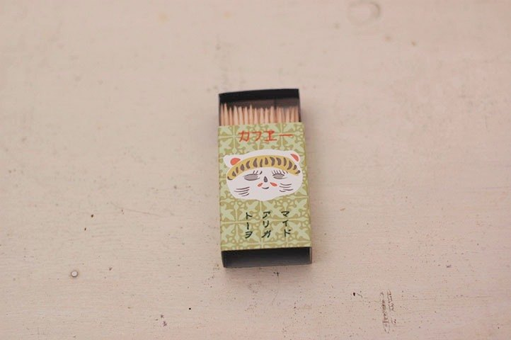 Classiky x Cat Match Box Toothpick【Cafe (20501-1)】