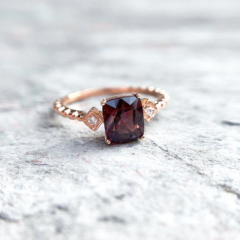 Oˋre Jewelry designer spinel Spinel 14K gold ring can be customized