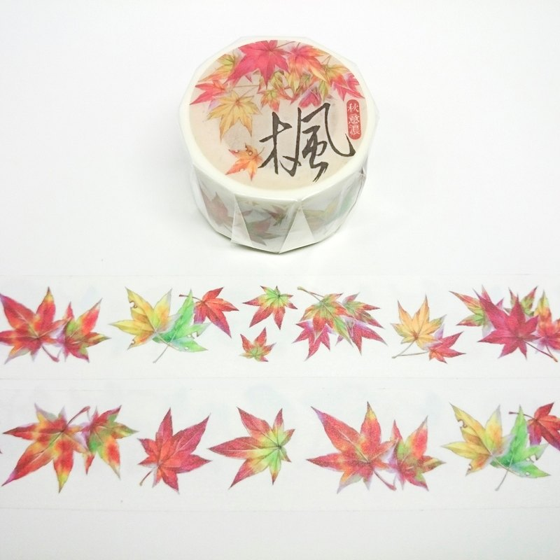 [Autumn Festival thick] Maple paper tape