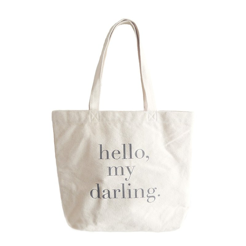 Hello letter to the back and forth with canvas bag