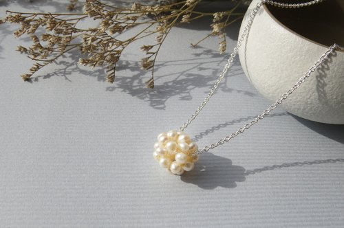 Repentance ReShi / small fresh series / pearl ball necklace / 925 sterling silver