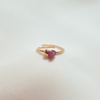 Miniheart ring