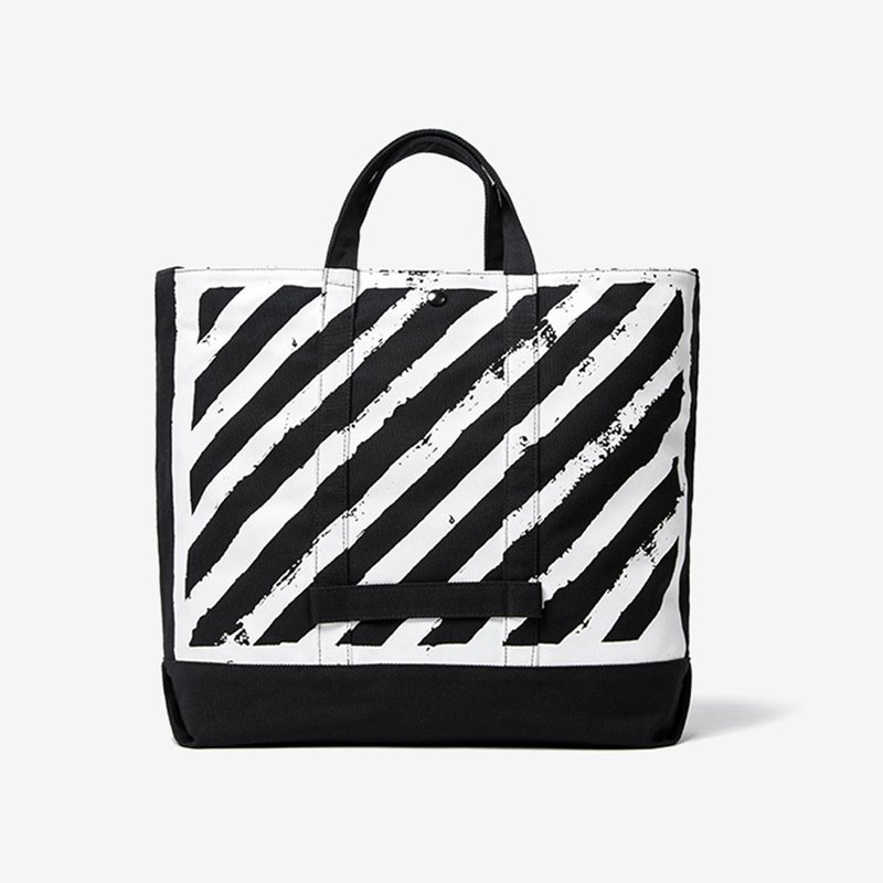 Zebra Striped Casual Tote/Trot Bag