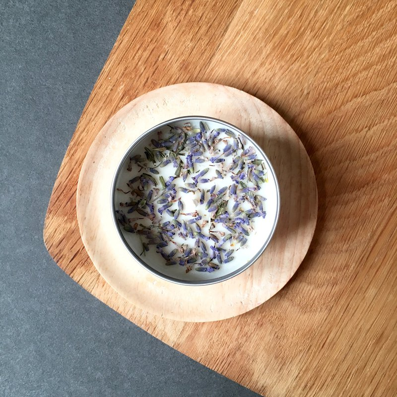 Botanical Tin Candle Lavender | Handpoured Soy Candle | Dried Flower Candles