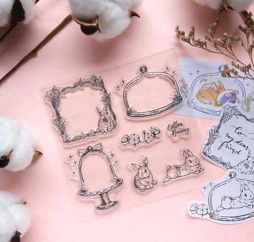 Cotton Bunny Clear Stamp