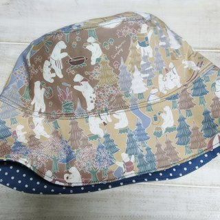 Forest polar bear little double-sided fisherman hat visor