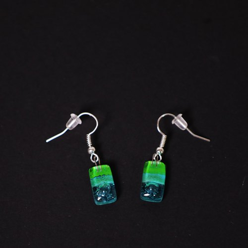 Bottle long earrings _ Margaret _ fair trade