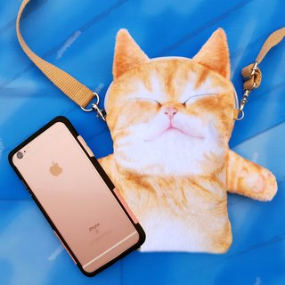 SLEEPY CAT PHONE BAG