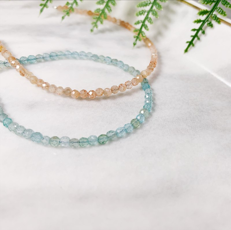 MH sterling silver natural stone elegant combination _ solar crystal _ apatite